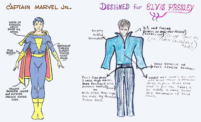 captain marvel jr elvis presley