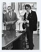 President Richard Nixon and Elvis Presley